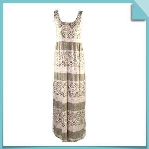 Sonoma Sleeveless Printed Maxi Dress Size M